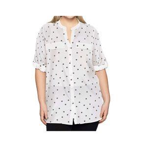 Calvin Klein plus size button down blouse